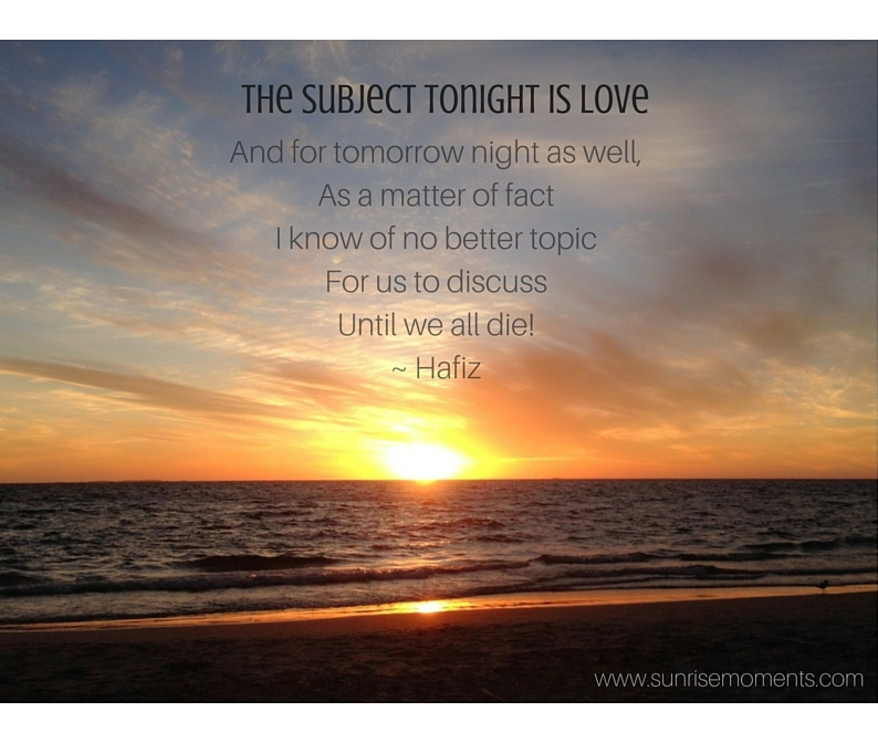 The subject tonight is love-2